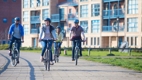 Create rewards and challenges for bike rides