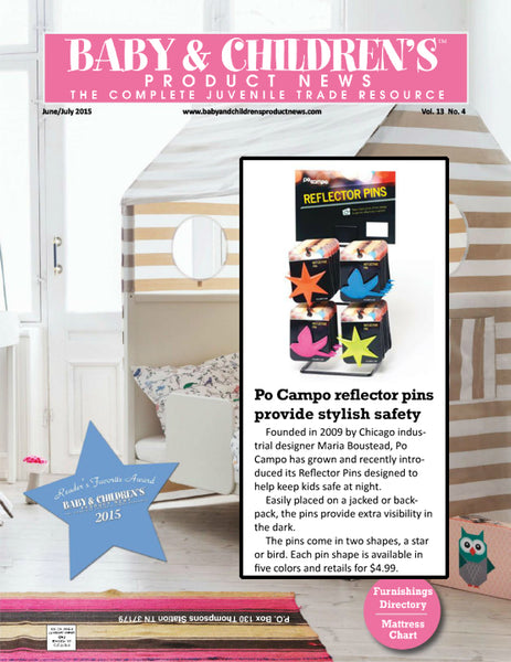 Reflector Pins in Baby and Children's Product News