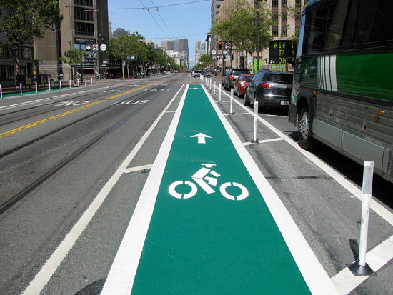 Bicycle Lane - Green Bike Lane
