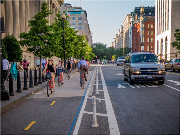 Bicycle Lane - Protected Bike Lane