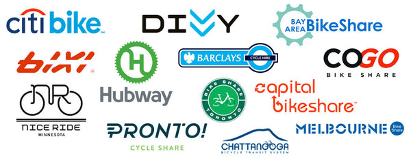 Bike share schemes compatible with Bike Share Bag