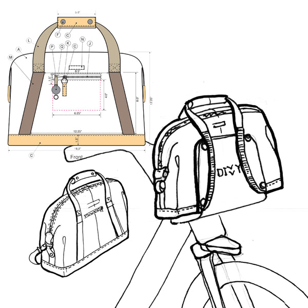 Po Campo Bike Share Bag Sketches