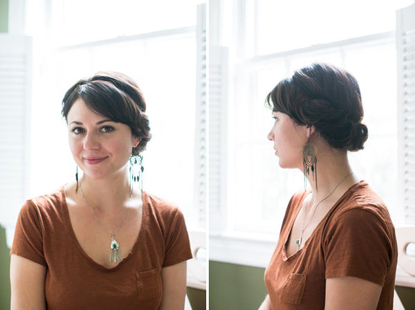 Hairstyles for biking - chignon