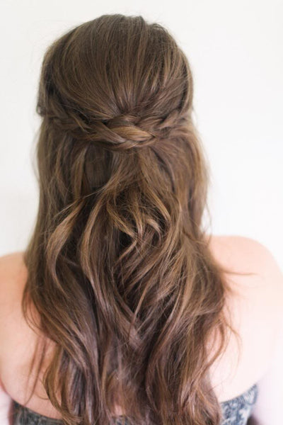 Hairstyles for Biking - Half Crown Braid