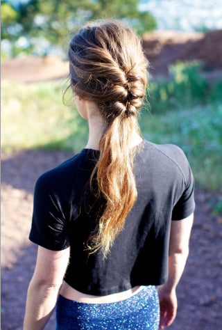 Hairstyles for Biking - Ponytail Braid