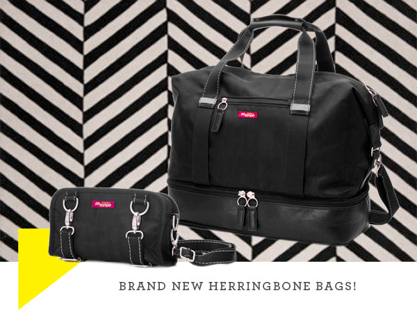 Black Herringbone bags