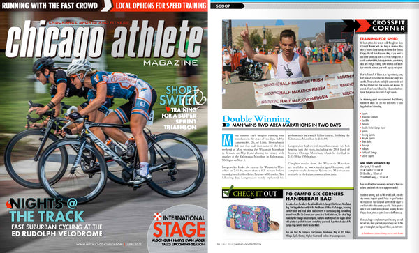 Po Campo Handlebar Bag in Chicago Athlete Magazine