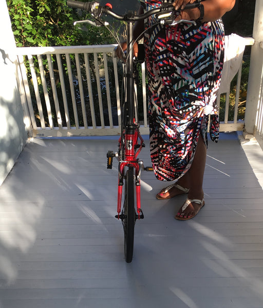 Biking in a long skirt