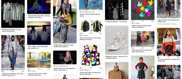 Fall and Winter Bike Style with reflective fashion on pinterest