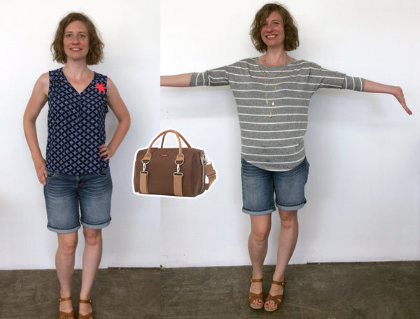 Stitch Fix outfits with Logan Trunk bag in Umber