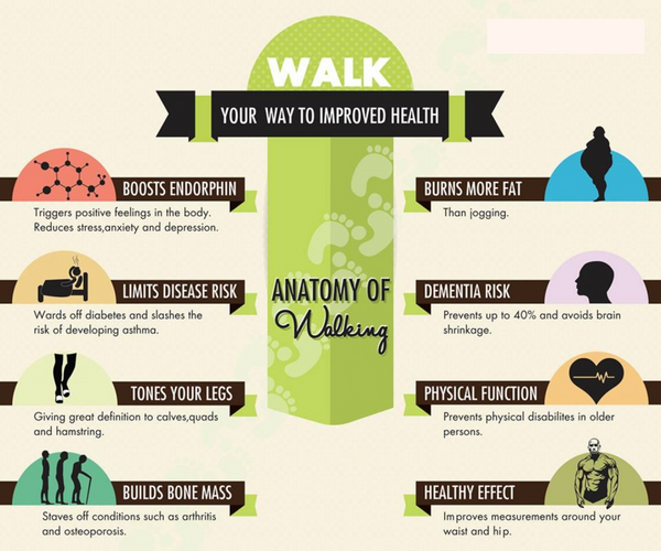 Walking Health Benefits - diagram