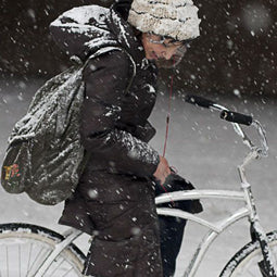 Stylish Winter Biking