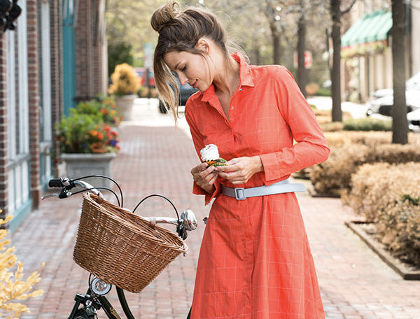Women Cyclists - Biking Dress