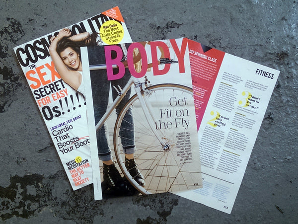 Women biking in the press - Cosmopolitan