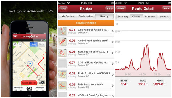 Bicycle Route Planner: MapMyRide