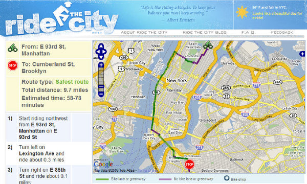 Bicycle Route Planner - Ride the City