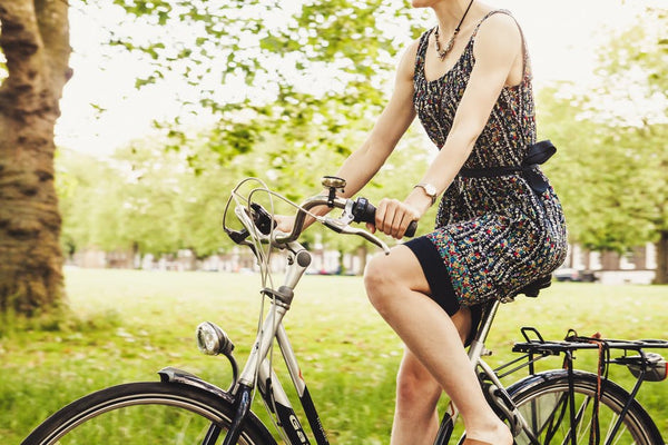 Biking in hot weather: biking in a dress