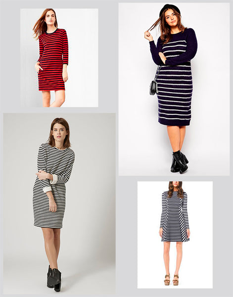 Cute Winter Dresses - Bold Stripes