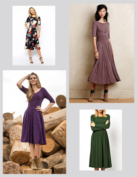Cute Winter Dresses - Midi Length