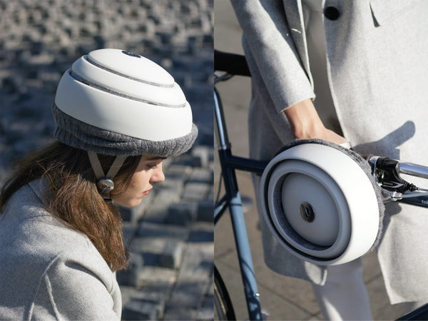 Bike Commuting: foldable helmet