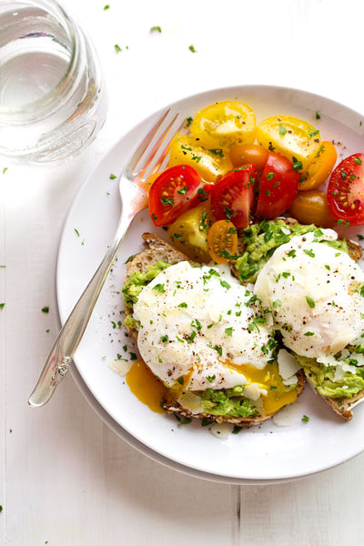 Healthy Comfort Foods: Poached Eggs & Avocado on Toast