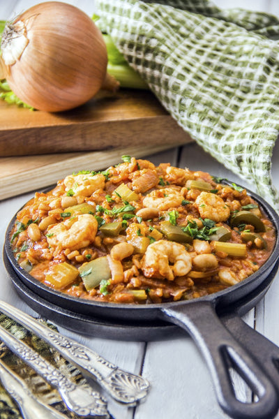 Healthy Comfort Food: Shrimp Jambalaya