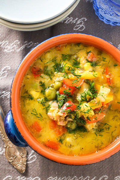 Healthy Comfort Food: Salmon Corn Chowder