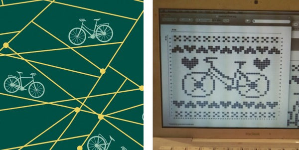 National Craft Month - Bicycle Knit Dishcloth Pattern Knitting Chart