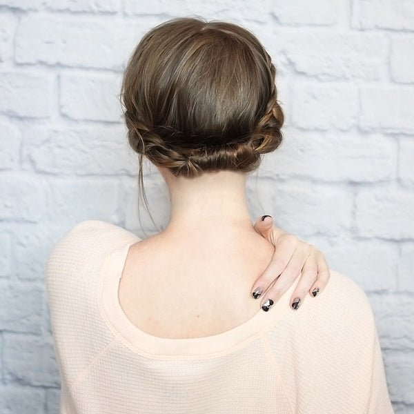 Hairstyles for biking - milkmaid hack