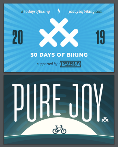 30 Days of Biking Spoke Card