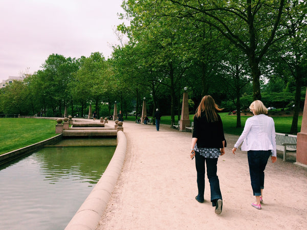 Walking Health Benefits - walking in a park