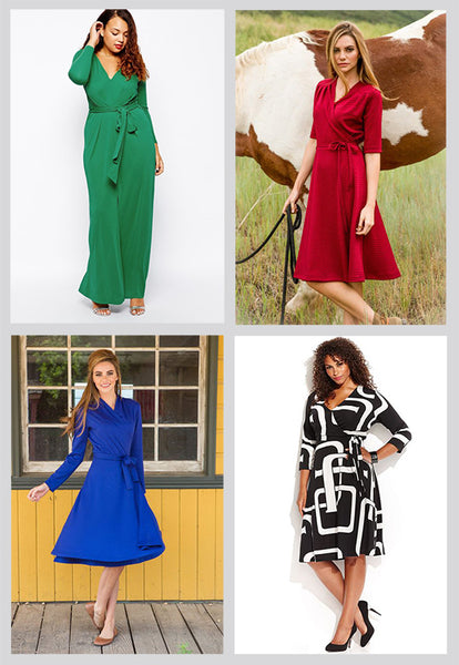 Cute Winter Dresses - Wrap Dresses