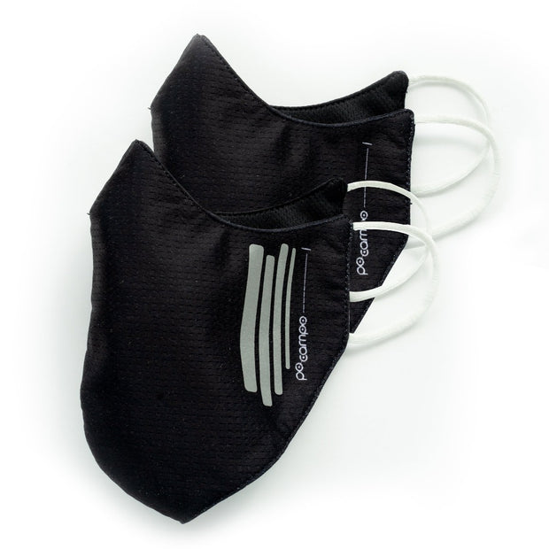 Breathable Face Mask 2-pack (including 1 w/ reflective stripes) - Po Campo
