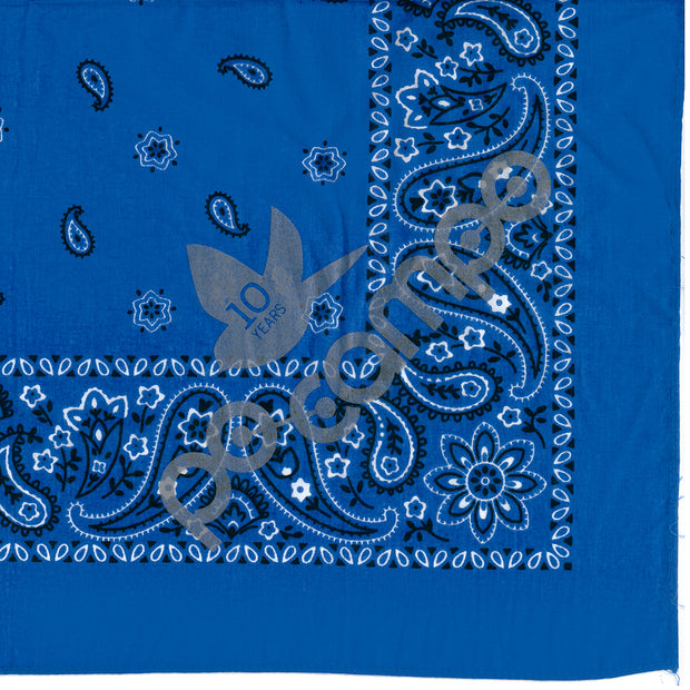 Po Campo Reflective Bandana in Peacock Blue