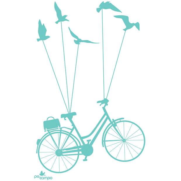 Bike & Be Free T-shirt - Artwork