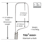 TiGr mini+ Ulock with reinforced mounting clip by TiGr Lock