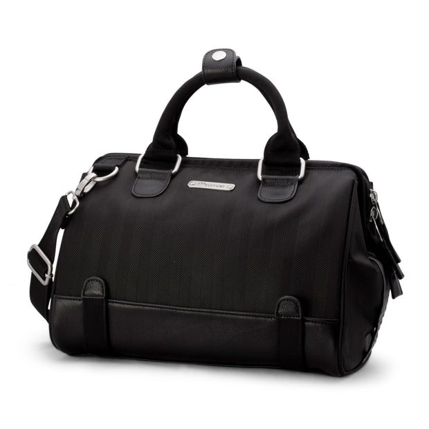 Po Campo Uptown Bike Trunk Bag in Black Herringbone
