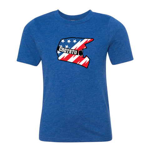 Tshirt - YOUTH Blue American Helmet