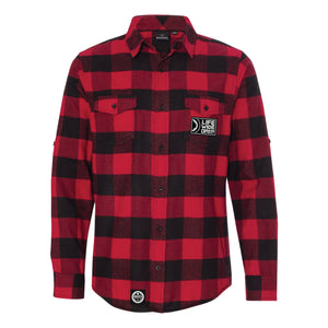 Flannel - Chain Sprocket RED
