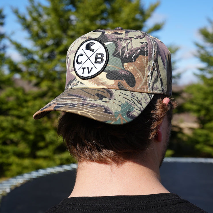 Vintage Camo Hat Hunting hat embroidered camouflage