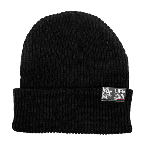 Knit Beanie - Black Snow