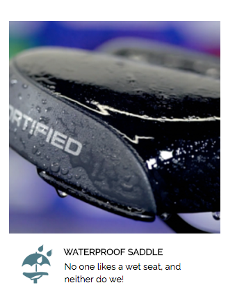 Waterproof Saddle
