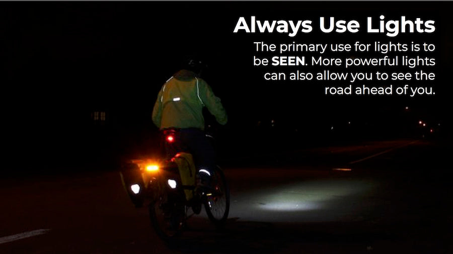 always ride with bicycle lights at night
