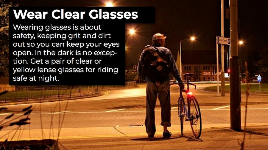 wear glasses while riding for safety