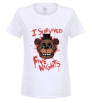 FNAF | I Survived Five Nights At Freddy's T-Shirt