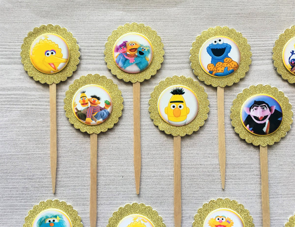 Sesame Street Cupcake Toppers, Set of 15 – LuLu Only Creations