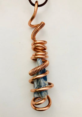 Copper Wrapped Kyanite (Indigo)