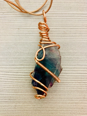 """Intentional Focus"" Fluorite & Copper Necklace"
