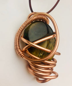 Copper Wrapped Tiger's Eye