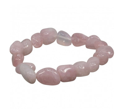 Rose Quartz Tumbled Bracelet